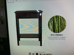 HOMFA bamboo night stand dark brown. for Sale in Upland, CA
