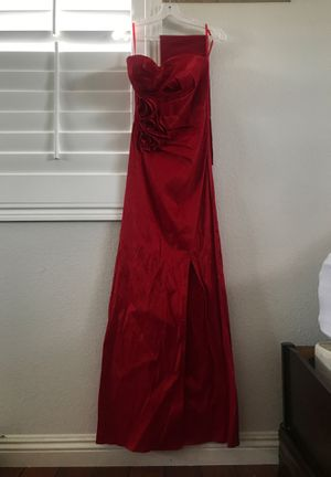 Long Red Prom Dress with Slit for Sale in Etiwanda, CA