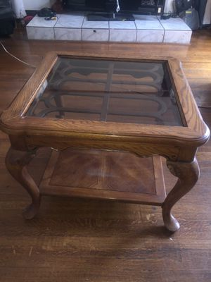 2 antique wood table $40 each or best offer for Sale in Los Angeles, CA