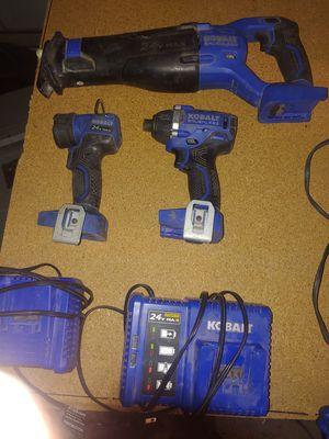 Kobalt 24v sawzall impact and flashlight no batterys for Sale in Phoenix, AZ