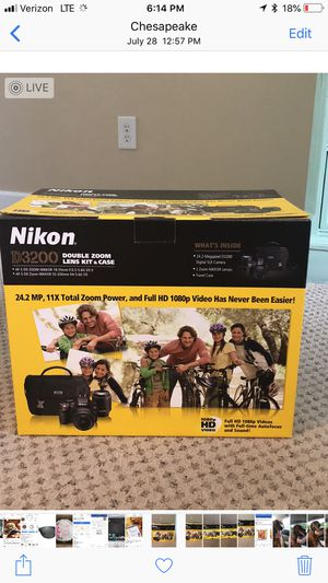 Nikon D3200 set with case and additional lenses for Sale in Norfolk, VA