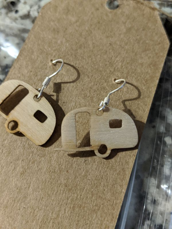 Trailer camper earrings