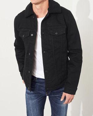 Hollister men's black denim jacket for Sale in Tacoma, WA
