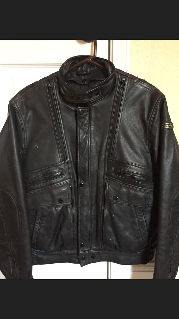 Hein Grenchi leather insulated motorcycle jacket