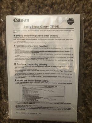 Canon Pkoto Paper GP-601 for Sale in Spring, TX