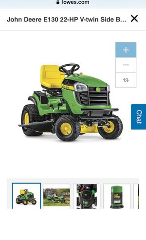 John Deere E130 22-HP V-Twin side by side hydrostatic 42-in riding lawn mower with mulching capability for Sale in Brooklyn, NY
