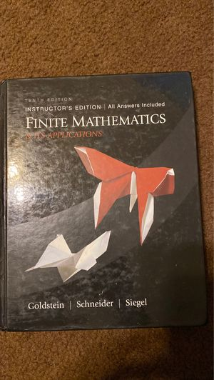 Finite Mathematics- Instructions and Application for Sale in Whittier, CA