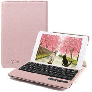 Keyboard Case iPad Mini, Boriyuan Detachable Wireless Bluetooth Keyboard PU Leather Cover with 360 Degree Rotating Stand Smart Cover for Sale in Rancho Cucamonga, CA