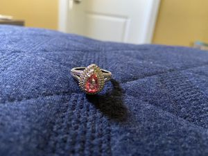 Peach crystal ring - size 9 for Sale in Canby, OR