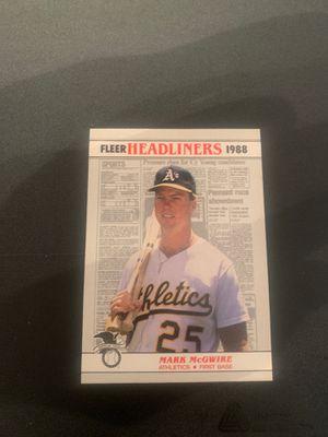 Mark McGwire baseball card for Sale in Spartanburg, SC