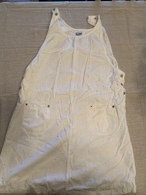 White cotton overall eyelet dress. Size M for Sale in Miami, FL