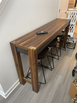 Kitchen table Counter Height (TABLE ONLY) (6FT BY 1FT 4INCH) for Sale in Edison, NJ