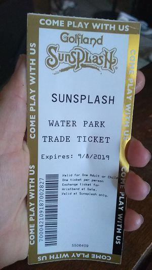 Sunsplash waterpark tickets for Sale in Phoenix, AZ