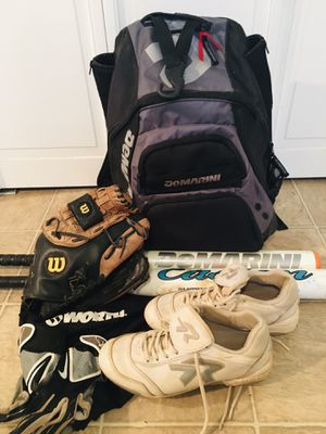 Fastpitch Softball Bat, Glove, Backpack, Cleats etc for Sale in Lake Oswego, OR