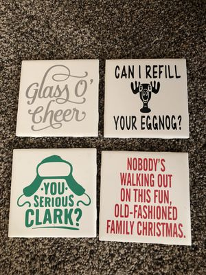 Set of four custom made to order coasters for Sale in Washington, IL