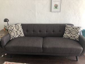 Grey couch with pillows for Sale in Long Beach, CA