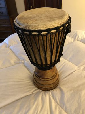 African Djembe Drum with carrying satchel! for Sale in Hopedale, MA