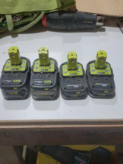 4 Ryobi Batteries for Sale in Vancouver,  WA