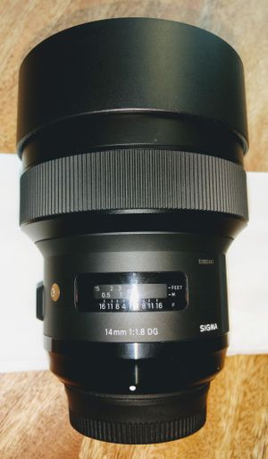Like new - Sigma 14mm F1.8 Art lens - Nikon F mount for Sale in Charlotte, NC