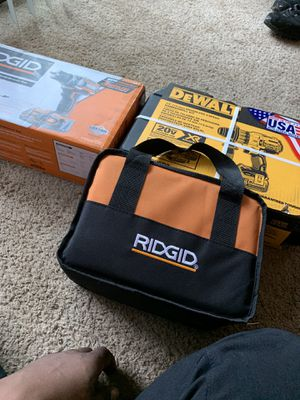 New hammer drill kit new compact drill driver kit and a new drill driver and impact kit. Willing to trade for apple products Microsoft products Sony for Sale in Palatine, IL