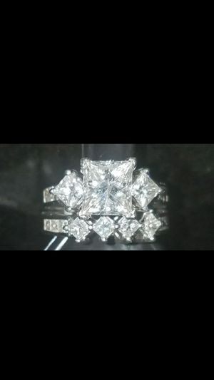Gorgeous Princess cut engagement &wedding ring for Sale in Arlington, VA