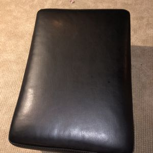Black Leather Ottoman 34 by 23.5 for Sale in Denver, CO