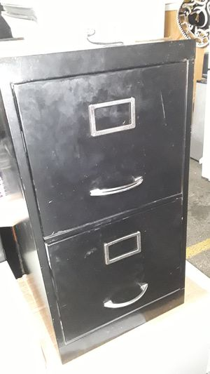 2 drawer black small file cabinet for Sale in Baltimore, MD