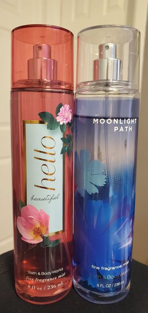 85% Full Bath And Body Works Fine Fragrance Mist $8.00 Each for Sale in Gardena, CA