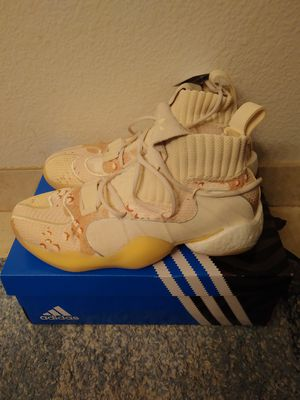 Adidas Crazy BYW X cream size 9.5 men for Sale in San Leandro, CA