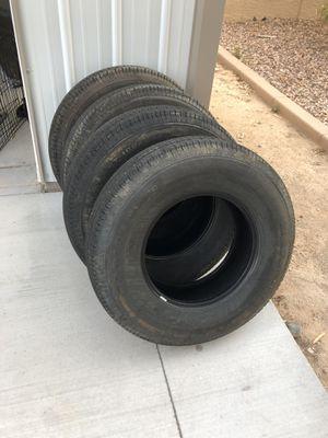 Trailer tires / Llantas 225/80-16 set of 4 for Sale in Glendale, AZ