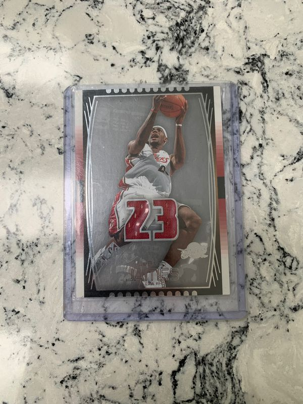 06-07 Lebron James Rookie Game Used Jersey Card