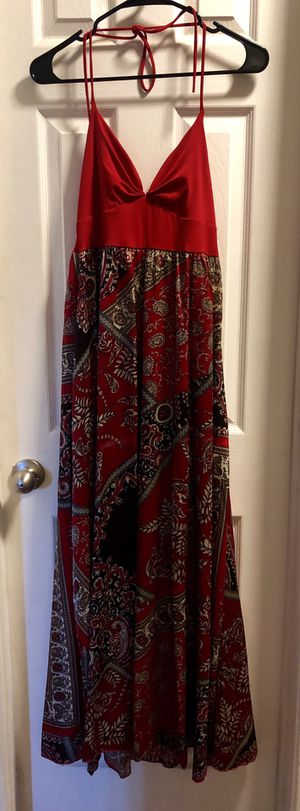 Red Satin Halter Dress - Size S for Sale in Calimesa, CA