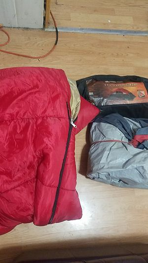 Ozark trail 4 person tent and sleeping bag for Sale in Dublin, OH