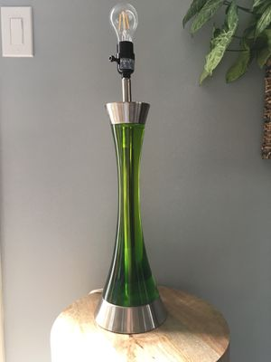 Modern green and silver metal table lamp for Sale in Nashville, TN