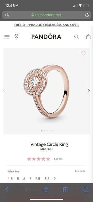 Pandora rose gold ring for Sale in Corona, CA