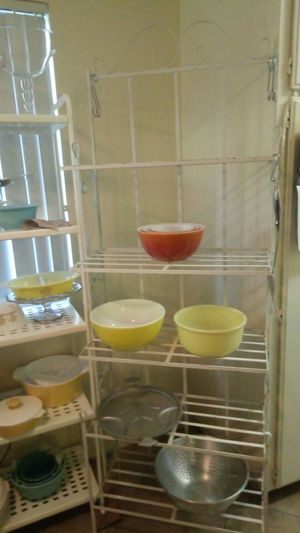 Vintage Pyrex and baker's rack for sale for Sale in San Dimas, CA