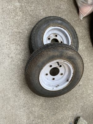Trailer tires- 3 (4.8-8, 5 lugs) for Sale in Vacaville, CA