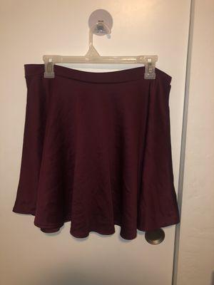 Maroon skater skirt - XL for Sale in Phoenix, AZ