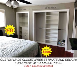 CUSTOMIZED CLOSET, GARAGE CABINETS, PANTRY & LAUNDRY CABINETS/SHELVES for Sale in Stockton, CA