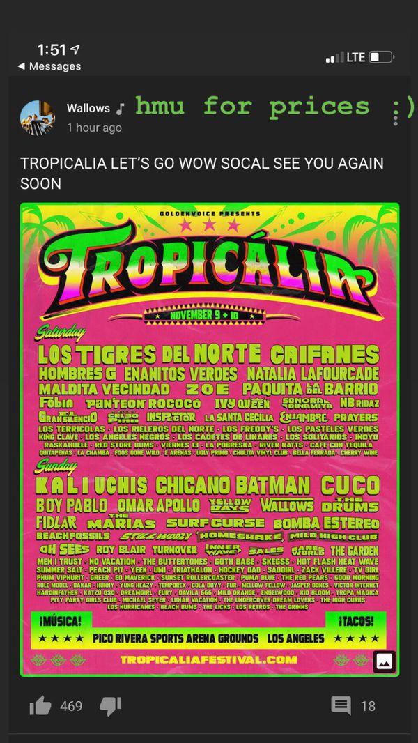One Tropicalia Sat VIP ticket
