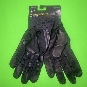 Nike Huarache Elite Adult Baseball Batting Gloves Size L Black (GB0448-072) for Sale in The Bronx, NY