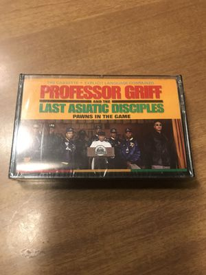 PROFESSOR GRIFF AND THE LAST ASIATIC DISCIPLES PAWNS IN THE GAME CASSETTE TAPE 1990 NEW SEALED for Sale in Portland, ME