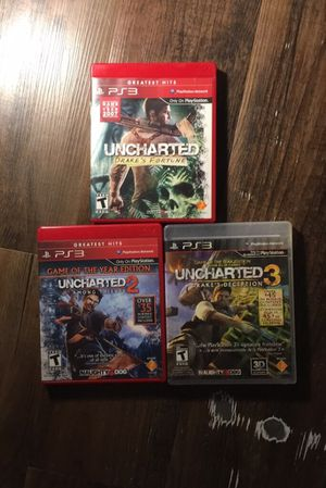 Uncharted Trilogy Game of the Year Edition for PS3 for Sale in Lynchburg, VA