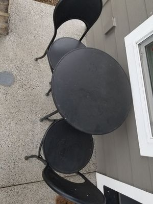 Metal Bistro Table and 2 chairs for Sale in Vancouver, WA