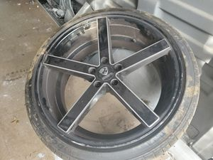 Ravetti rims and tires 20inch for Sale in Baltimore, MD