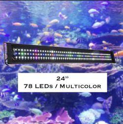 """24"""" Full Spectrum LED Aquarium Light Reef Coral Marine Fish Tank Light for Sale in Ontario,  CA"""
