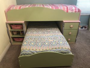 Kid Loft Bed - Twin Trundle Bed w/Storage for Sale in Gahanna, OH