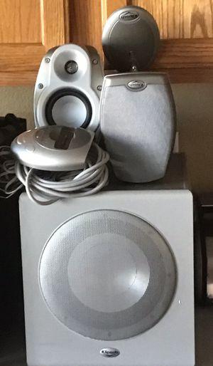 Klipsch ifi 2.1 200 w sub iPod docking RSX3 speakers for Sale in Glendale, AZ