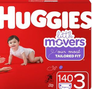 Size 3 little movers huggies for Sale in Portland, OR