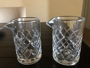 Pottery Barn Bar Crystal Cocktail Mixers, Set of 2. Brand New! Paid $80. Asking $20 (West Elm, Crate & Barrel, William Sonoma) for Sale in San Diego, CA